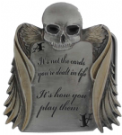 It's Not The Cards It's How You Play Them Belt Buckle with display stand